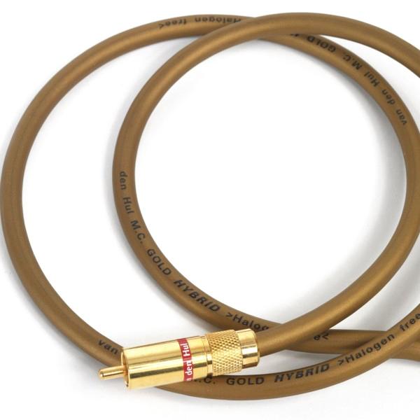 Кабель межблочный аналоговый RCA Van den HulКабель межблочный аналоговый RCA<br>Экранированный двухпроводный симметричный гибридный кабель  из  беcкислородной меди с золотым покрытием 24 карата, длина 1 метр<br>