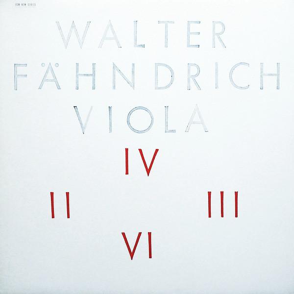 Walter Fahndrich Walter Fahndrich - Viola цены онлайн