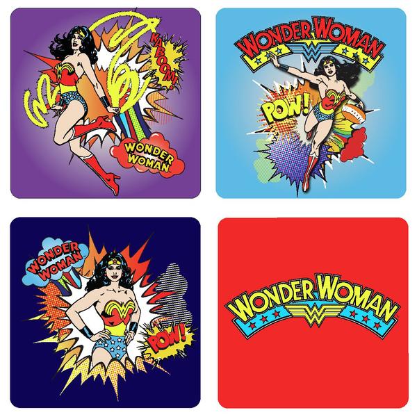 Подставки под стаканы Wonder Woman (4 шт.)