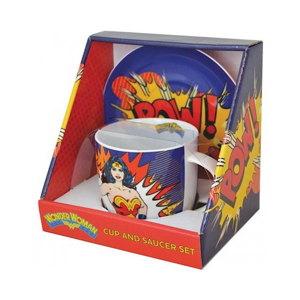 Чашка с блюдцем Wonder Woman от Audiomania