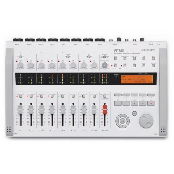 Портастудия ZoomПортастудия<br>Портативный рекордер, аудиоинтерфейс и контроллер.Запись в формате: WAV (16/24 бит, 44, 1 кГц).Входы и выходы: 8 микрофонных входов/ 2 выхода, 8 комбинированных входов Jack/XLR, инструментальный вход с высоким сопротивлением<br>