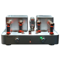 Интегрированный ламповый стереоусилитель, мощность 18 Вт на канал.  Частотный диапазон 8 Гц - 62 кГц, вес 28 кг.